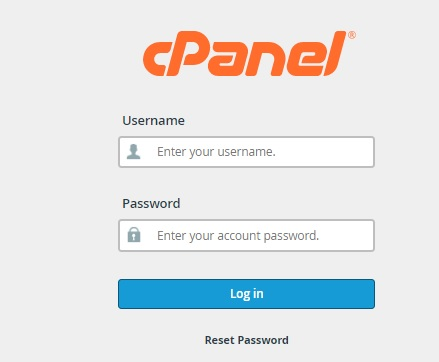 Cpanel login area
